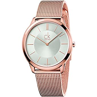74f018093 Image Unavailable. Image not available for. Color  Calvin Klein Minimal  Rose Gold Tone 40mm Women s Watch K3M21626