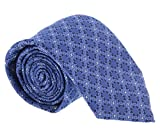 Canali Blue Geometric- Floral Tie for mens