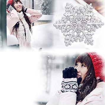 Chakil Broche pour femme Motif flocons de neige pour mariage broches /él/égant /él/égant Strass Filles Cadeau de No/ël 5.5 5.5CM dor/é