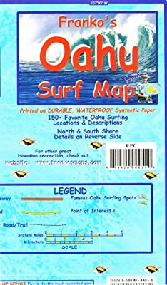 Franko's OAHU Surf Map: Amazon com