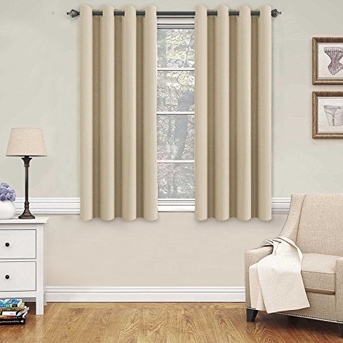 Navy Sage - Blackout Thermal Insulated Curtains for Bedroom / Living Room, 52