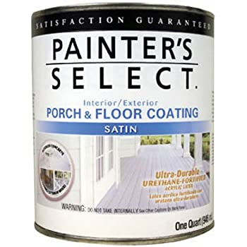 True Value USF5-QT Painter's Select Medium Gray Interior/Exterior Urethane Fortified Satin Porch and Floor Coating, 1-Quart