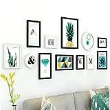 Galería de fotos Pared de la foto pared del marco de la foto del fondo del sofá del dormitorio pared de la foto del pasillo del comedor de la manera marco de la pared del álbum de la sala de estar se puede combinar libremente Marco de la foto de madera sólida