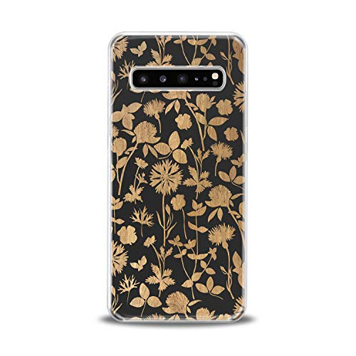 Lex Altern TPU Case for Samsung Galaxy s10 5G Plus 10e Note 9 s9 s8 s7 Flower Wildflower Blossom Leaves Cover Branch Painted Girl Translucent Protection Design Women Transparent Flex Silicone Unique