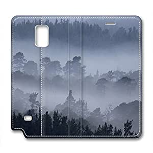 Sea of Clouds Design Leather Case for Samsung Note 4 Mountain Fog