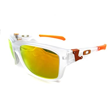 9acfe00e63 Oakley Sunglasses Jupiter Squared Matt Clear Fire Iridium 9135-03  Amazon.co.uk   Clothing