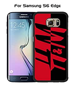 Galaxy S6 Edge Funda Case Brand Logo H&M Plastic Anti Scratch Vintage Drop Proof Customized Compatible with Samsung Galaxy S6 Edge (Not for S6 / S6 Edge Plus)