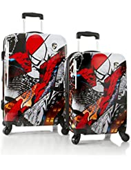 Marvel Comics Spiderman Lightweight 2-PC Hardside Expandable Spinner Luggage Set