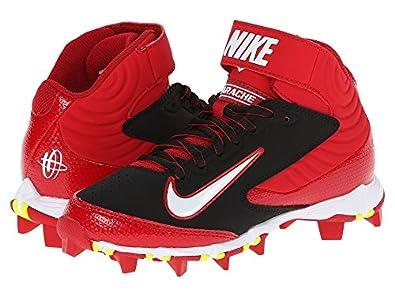 Amazon.com   Nike Huarache Keystone Mid BG Boys Red 2Y   Baseball & Softball