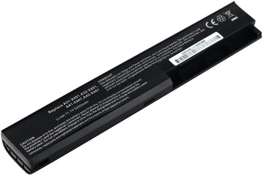7XINbox 11.1V 5200mAh A31-X401 A32-X401 A41-X401 A42-X401 Replacement Laptop Battery for Asus A32-X401 X401 X401A X401U F301 F301A F301A1 F301U F401