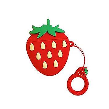 Carcasa de Silicona para Apple AirPods 2 1 Cute 3D Fruit Cartoon ...