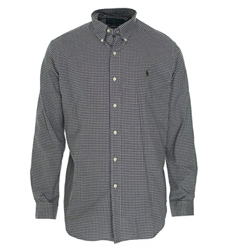 Polo Ralph Lauren Classic-Fit Checked Sueded Twill Shirt, Purple, - Shirt Sueded Twill