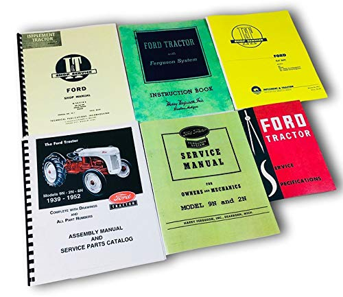 Lot 6 Ford 9N 2N Tractor Manual Shop Operators Parts Catalog Service Repair -