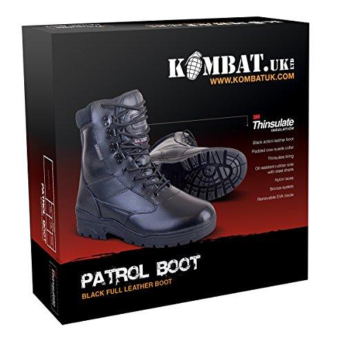 prossima kombat esercito militare mezzo escursionismo Pattuglia la generazione tuo lavoro in combattimento britsh pelle il taglia 5 da marrone pattinatore caddy pattuglia stile IzqXq81x