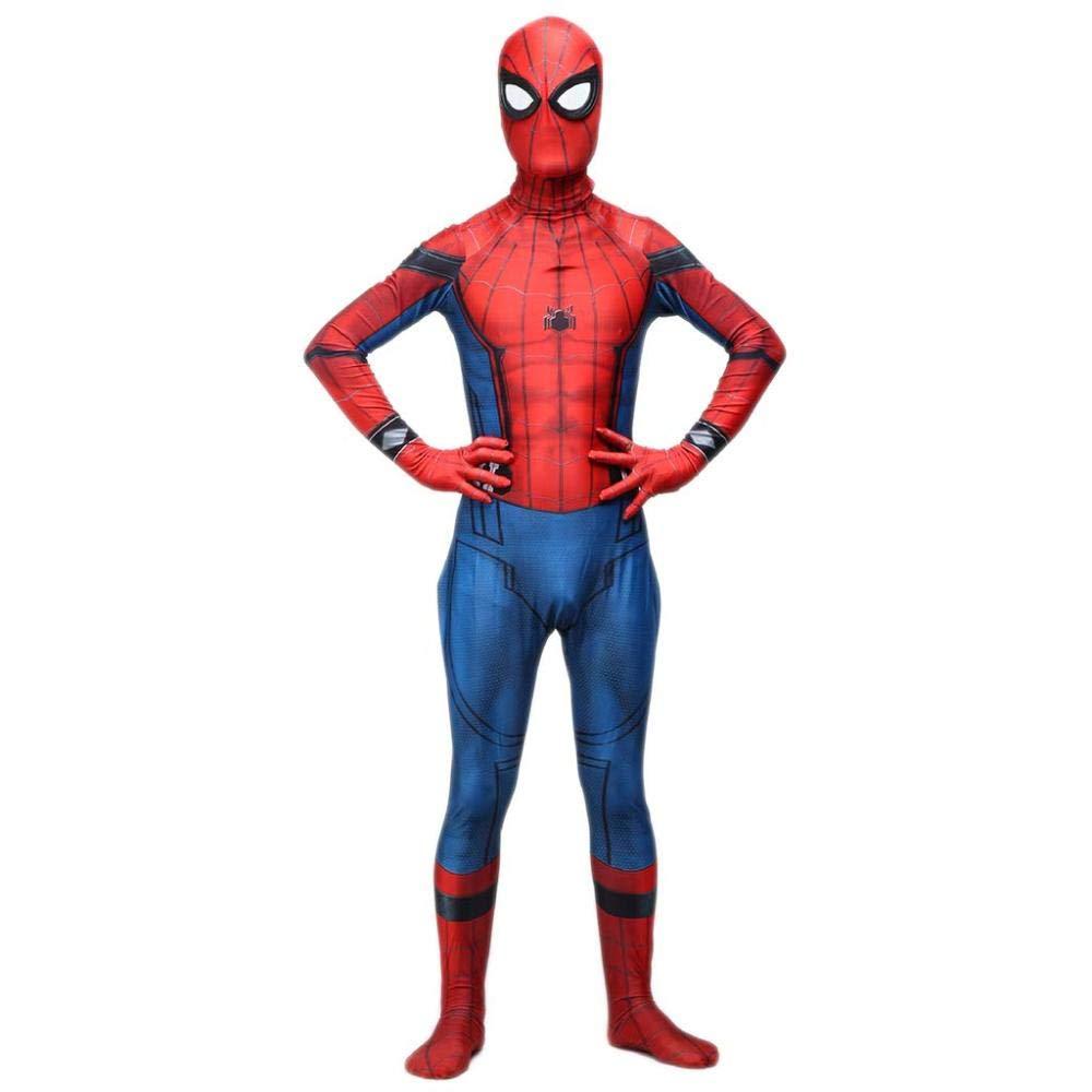 rouge XX-grand WEGCJU Retour à Costume Spider Man Collants Siamois Cosplay Costume d'halFaibleeen Balle Film VêteHommests,rouge-L