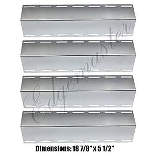 EdgeMaster barbacoa de repuesto 4unidades placas de calor de acero inoxidable para parrilla de Gas Nexgrill 720–0133, 720–0133-lp modelo