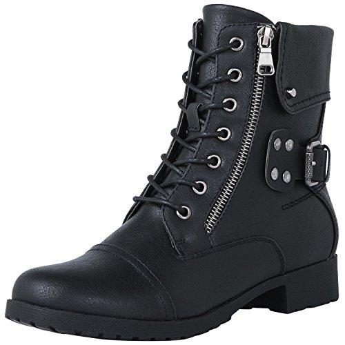 Fashion 1822black in Strap Globalwin Women's Boots CtqSSv