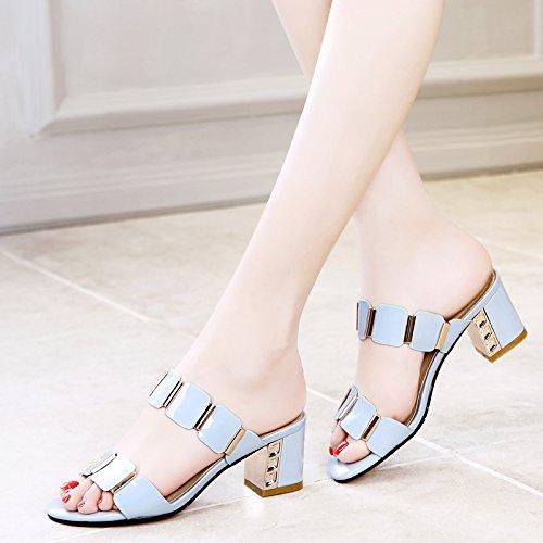 de AJUNR los Zapatos ásperos los Moda Verano Perforación Perforación Verano pies Fresco 5eaf9b