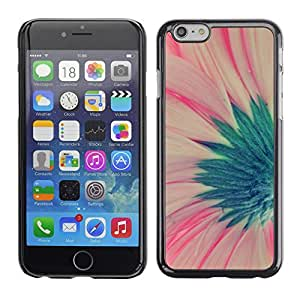 FlareStar Colour Printing Flower Green Pink Spring Floral Petal cáscara Funda Case Caso de plástico para Apple (4.7 inches!!!) iPhone 6