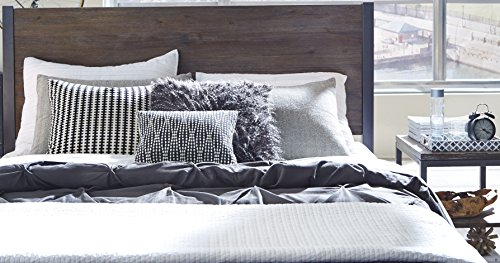 Barnside Metro Grey Queen Headboard & Night stand by Home Styles