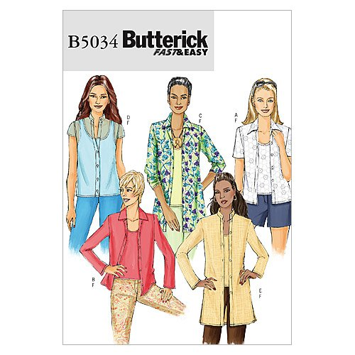 Butterick Patterns B5034 Misses'/Misses' Petite Shirt and Tank Top, Size BB (8-10-12-14) by BUTTERICK PATTERNS   B000XO2KQ0