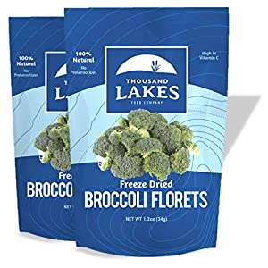 dried broccoli florets