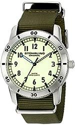 Stuhrling Original Men's 'Aviator' Swiss Quartz Stainless Steel Casual Watch (Model: 818A.01)