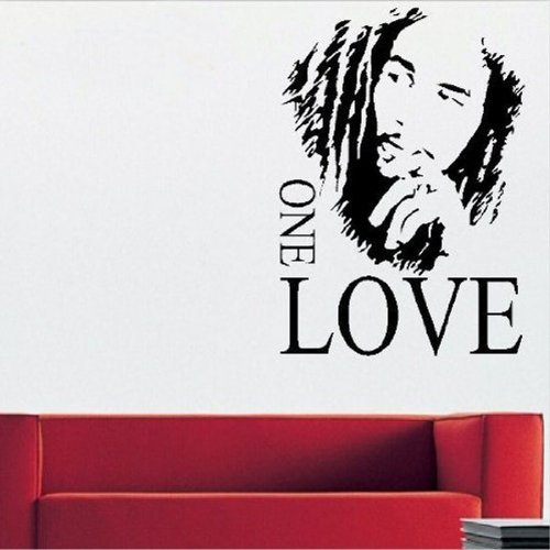 MZY LLC (TM) Bob Marley ONE LOVE Vinyl Art Mural Wall Sticker Home ...