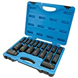 Jet 1/2-inch Drive, 19-Piece Regular SAE Professional Impact Socket Set, 6 Point, 610329
