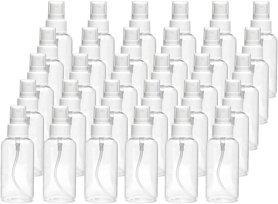 Perezy 30Ml Botella Transparente Botella del Aerosol Botella PláStico VacíA Recargable Viaje Botella Adecuados para DesinfeccióN de LíQuidos de Aceite Esencial,Viajes,Perfume,Alcohol,Etc.