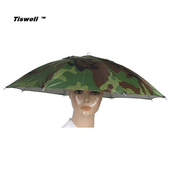 Sourcingmap Navy Blue Stretchy Headband Handsfree Umbrella Hat Headwear for...