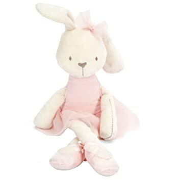 3a2c132de43a Amazon.com: PYD Lovely Rabbit Plush Toys Soft Baby Sleeping Comfort Doll  Children Birthday Festival Gifts (Pink): Baby