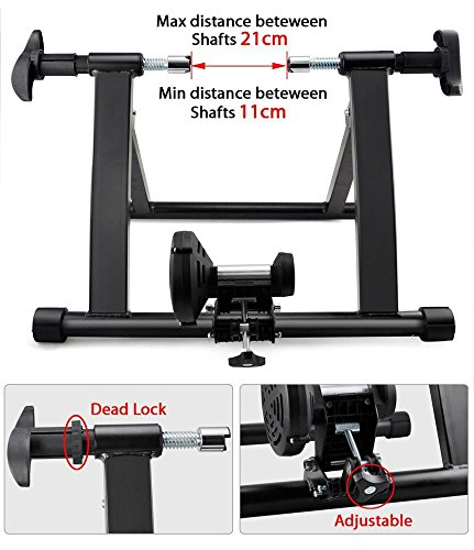 Yaheetech Premium Steel Bike Bicycle Indoor Exercise Bike Trainer Stand by Yaheetech (Image #4)