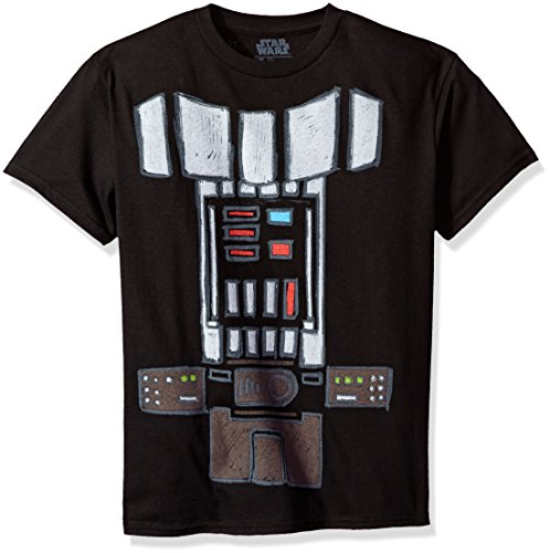 Star Wars Big Boys' Darth Vader Body Costume Graphic Tee, Black, YL - Costumes Lightsaber