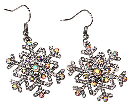 YACQ Snowflake Dangle Earrings Thanksgiving Christmas Holidays Party Jewelry Gifts for Women Teen Girls ... ()
