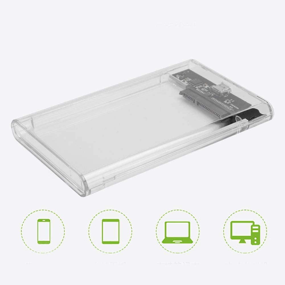 Type C Interface Transparent 2.5 Inch SATA HDD SDD Box Case Mobile Hard Disc External Enclosure UASP Wendry External Hard Disc Enclosure