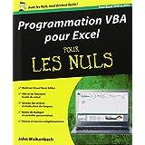 Programmation VBA pour Excel pour les Nuls