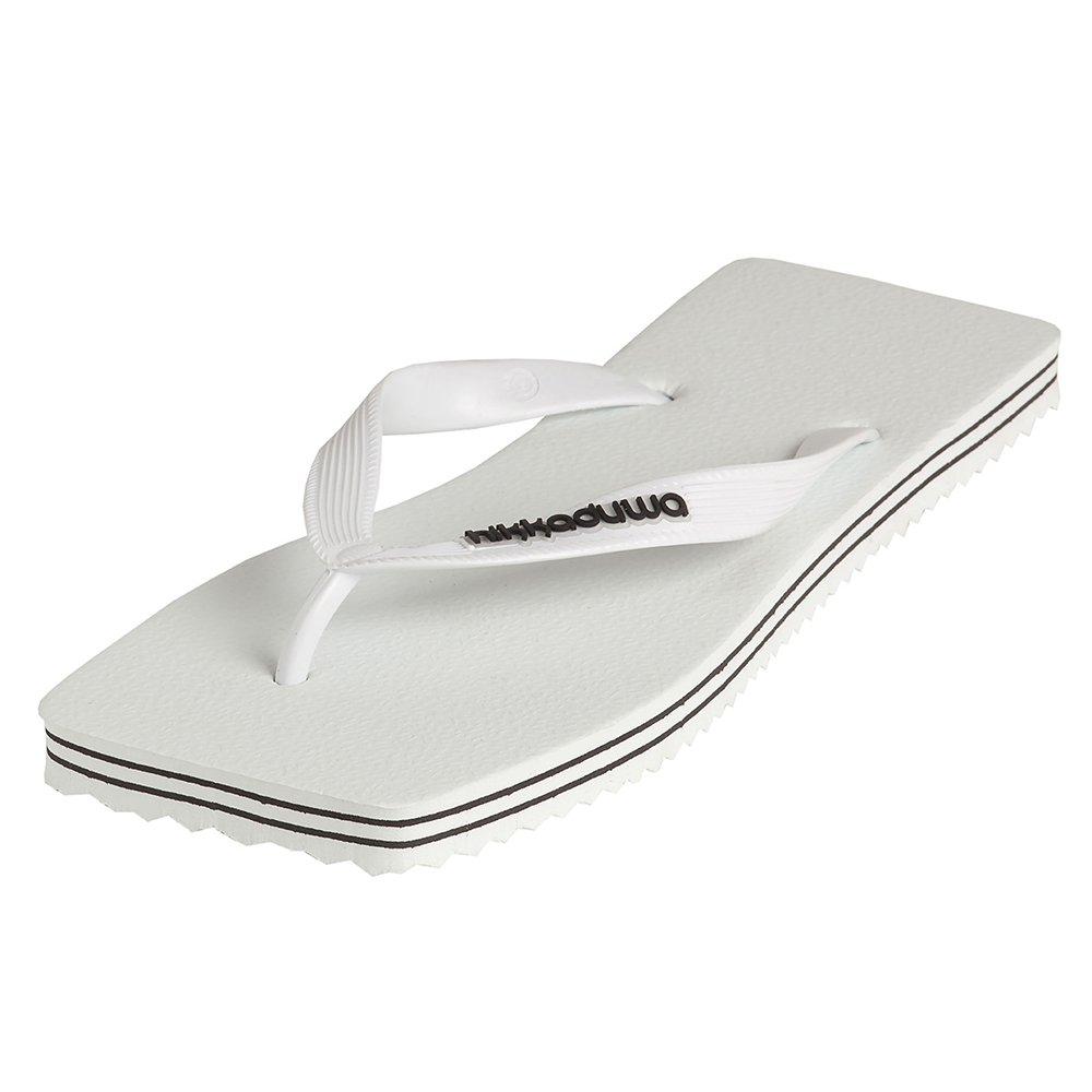 Hikkaduwa - Chanclas LINE MODEL para hombre y mujer, color liso, zapatos aleros - WHITE - EUR 35-36 (longitud de sol: 23,4 cm)