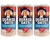 quaker oatmeal container - 1-Minute Oatmeal 18 oz Quaker Quick Pack of 3