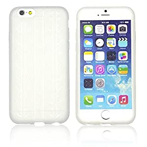 OnlineBestDigital - Tyre Style Soft Silicone Case for Apple iPhone 6 Plus (5.5 inch) Smartphone - Transparent