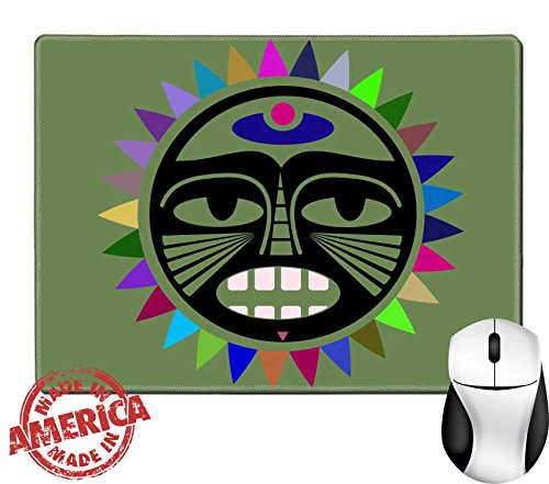 "Luxlady Natural Rubber Mouse Pad/Mat with Stitched Edges 9.8"" x 7.9"" IMAGE ID: 31439506 Beautiful Polynesian style tattoo (Polynesian Shipping)"