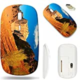 MSD Wireless Mouse White Base Travel 2.4G Wireless Mice with USB Receiver, Noiseless and Silent Click with 1000 DPI for Notebook, pc, Laptop, Computer, mac Book Design 26767241 Wadi Rum Desert Jordan