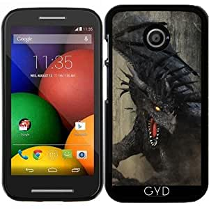 Funda para Motorola Moto E (Generation 1) - Dragón Negro by Gatterwe