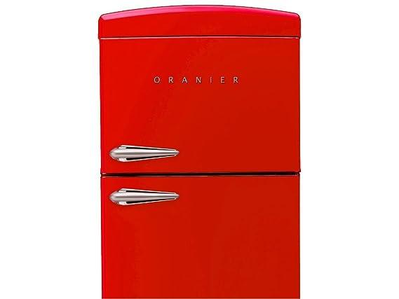 Retro Kühlschrank Oranier : Oranier rkg standgerät kühl gefrierkombination rot kühlschrank