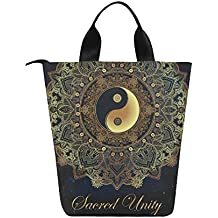 Lunch Bag Tote Bag Yin And Yang Paisley Lunch Organizer Lunch Holder Lunch Box Container