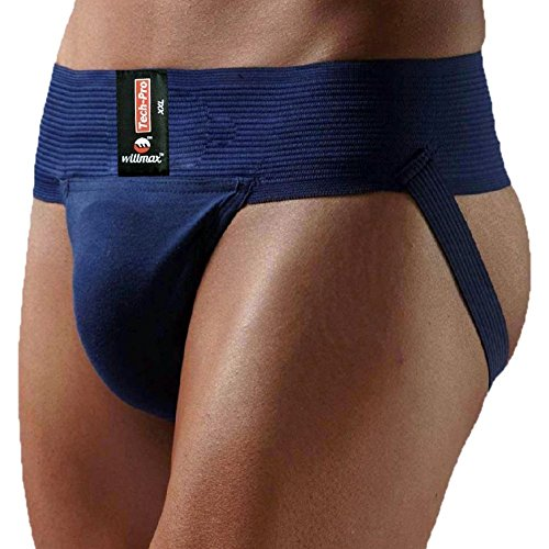 - KD Willmax Jockstrap Gym Cotton Supporter Navy Blue X-Large with Cup Pocket Athletic Fit Fashionable Straps Brief Multi Sport Underwear Gym, Fitness & Outdoor Inner Wear Soft Underpants
