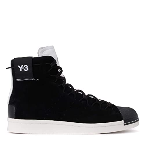 5e1f3ae918a5 Y-3 Men s Sneaker Alta Y-3 Super High in Suede Nero E Pelle Bianca 8(UK)  -8(UK) Multicolour  Amazon.co.uk  Shoes   Bags