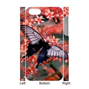 Customized Phone Case with Hard Shell Protection for Iphone 4,4S 3D case with Butterfly lxa#453506 by runtopwell