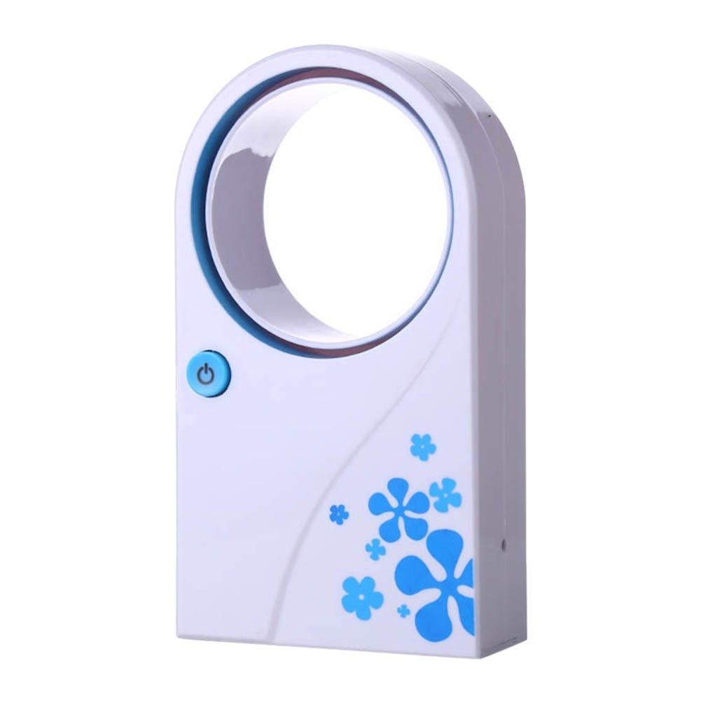 lzndeal Mini Fan Bladeless vaneless Ventilator USB Desktop tragbaren Handheld-Klimaanlagen-Kü hler (Blau)