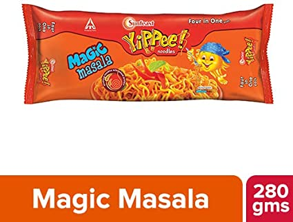 Sunfeast Yippee Noodles - Magic Masala Four in One Pack  280g